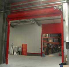 Protiv požarna industrijska rolo vrata