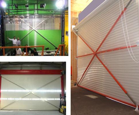 Sistem ojačanja površine zatvorenog tipa metalnih rolo vrata